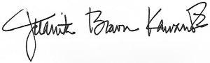 Juanita Brown Kawamoto signature