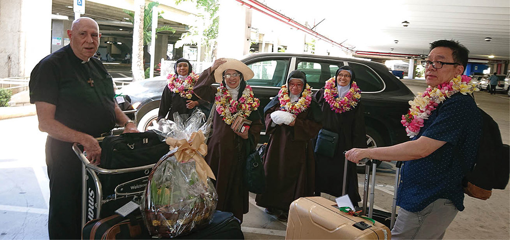 Three new Carmelites arrive from the Philippines - Hawaii