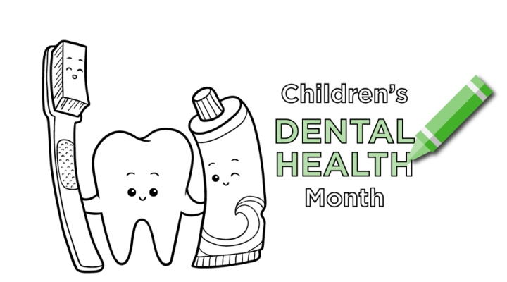 An Oral Health Coloring Book for National Children's Dental Health Month