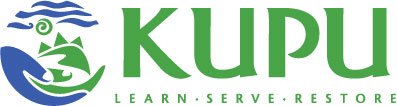 KUPU logo - learn serve restore Hawaii sustainability & sustainable business practices.