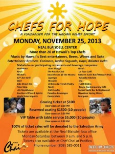 Chefs for Hope - Haiyan Relief Fundraiser