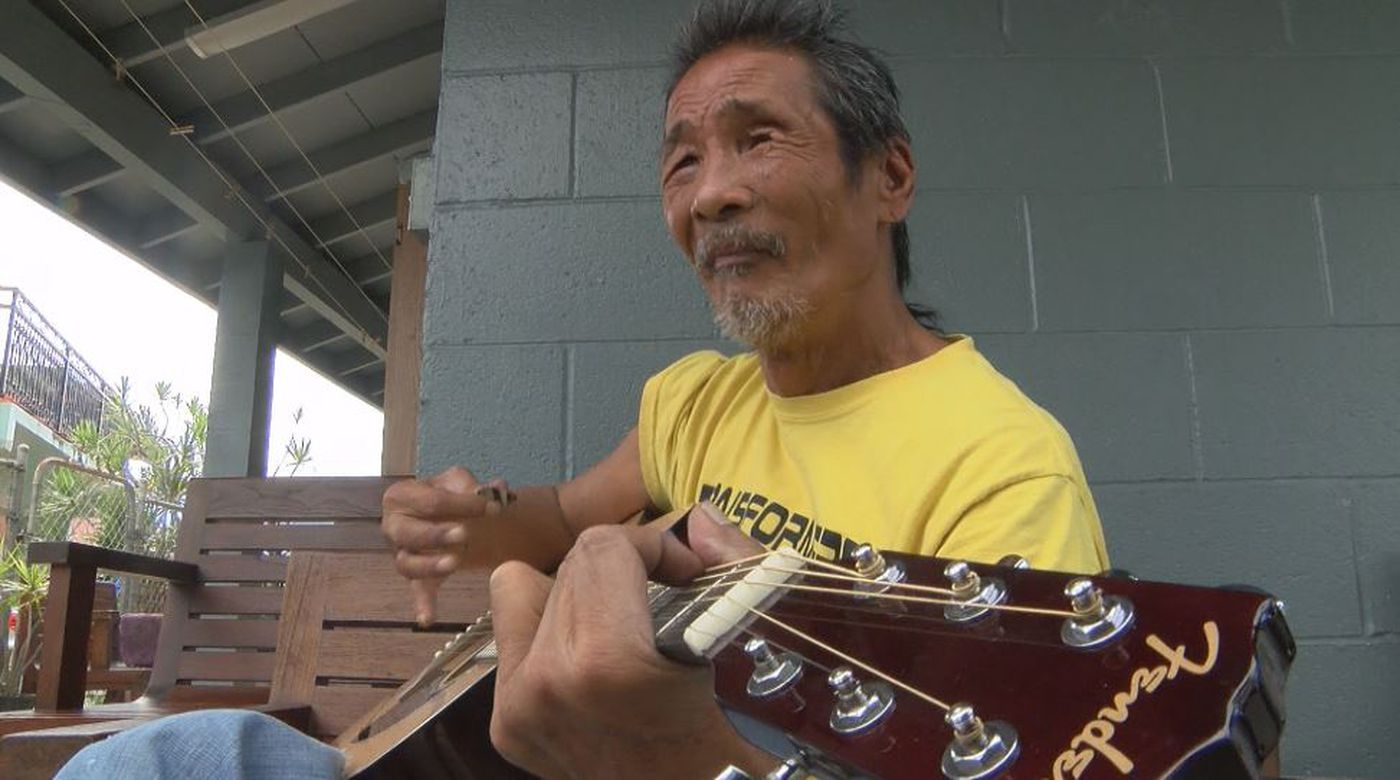 Ben Taparra, who was diagnosed with schizophrenia, lived on the streets of Kapahulu for 10 years before finally getting help. (Image: Hawaii News Now)