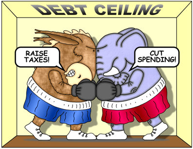 Democrats and Republicans fight over debt ceiling