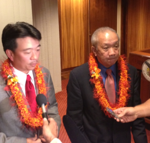 LT. Governor Shan Tsustui and House Speaker Calvin Say (file Photo)