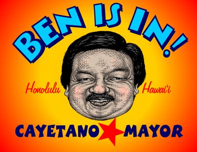Ben Cayetano cartoon, caricature by John Pritchett