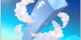 cartoon illustration about facebook, facebook tower
