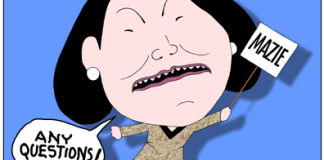 Mazie Hirono cartoon caricature, Hawaii U.S. Senater race candidate