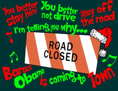 Obama brings traffic jams to Hawaii cartoon