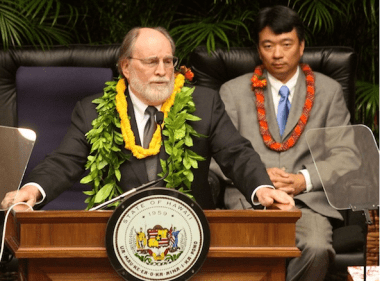 OUSTED: Gov. Neil Abercrombie is first Democratic governor to be booted from office.  (photo by Mel Ah Ching)