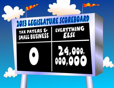 Hawaii legislature scoreboard cartoon