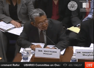 TROUBLED: Hawaii Health Connector Director Tom Matsuda testifiesThursday before Congress on Hawaii's problem-filled Obamacare exchange