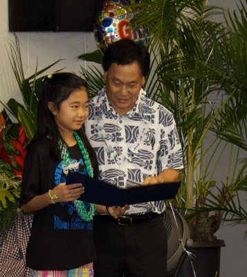 Governor's Commendation for Celina Shoda