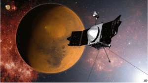 MAVEN spacecraft approaches Mars
