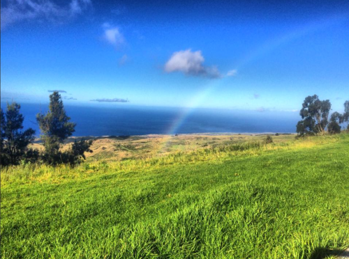 Rainbow over Waimea, Hawaii