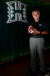 Norm Chow, UH Head Football Coach (Photo courtesy of UH)