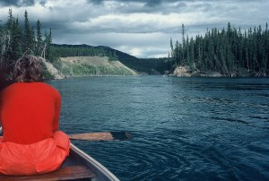 Paddling down the Yukon River