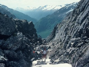 Summiting Chilkoot Pass