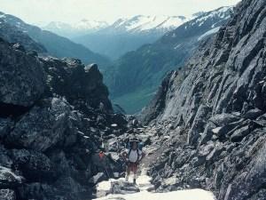 Summiting Chilkoot Pass