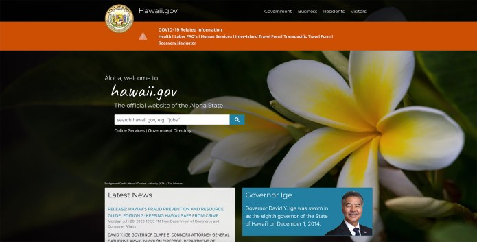 State launches redesigned Hawaii.gov website
