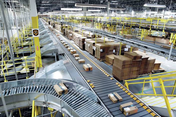 Amazon's powerful warehouses showing its packages, processes, and distribution