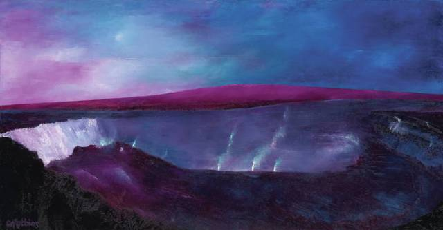 'A Brush with Light': VAC features Catherine Robbins' vivid oil paintings of the Big Island's volcanoes
