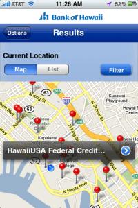 Bank of Hawaii iPhone App
