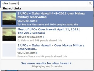 UFO Over Oahu on Facebook
