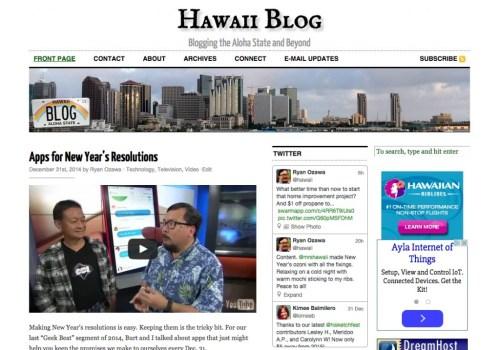 Hawaii Blog in 2014