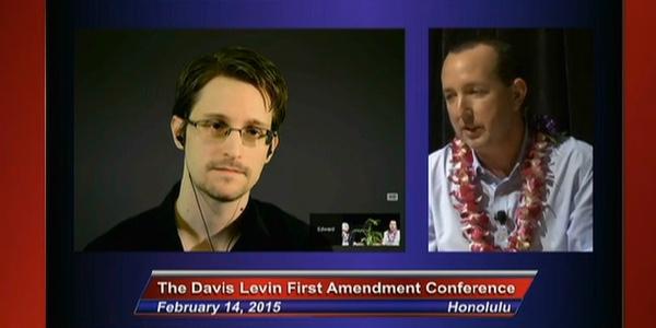 Edward Snowden at ACLU Hawaii Event on Olelo