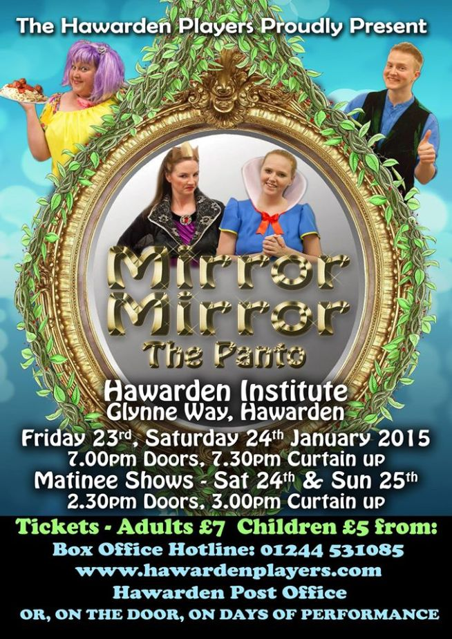 Poster for Mirror Mirror, our 2015 Panto