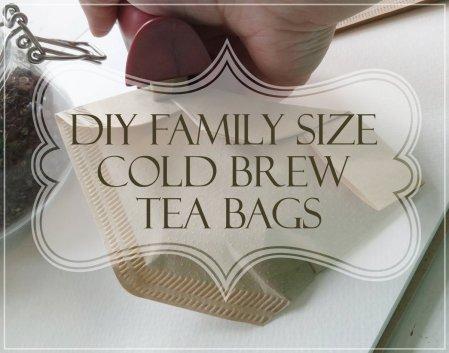 DIY pitcher sized cold bre tea bags
