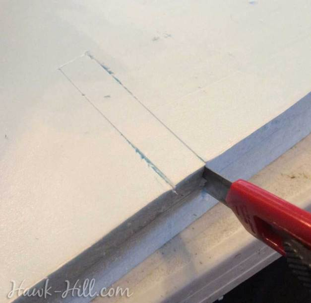cutting notches for a homemade drawer divider grid