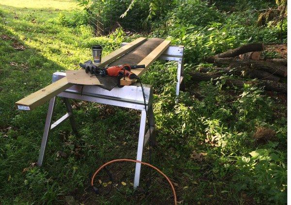 Equipment for mushroom logs.