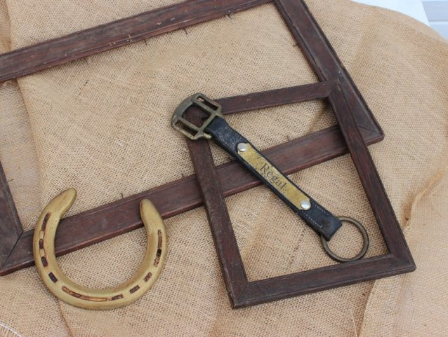 Framing the engraved section from a broken halter is easy