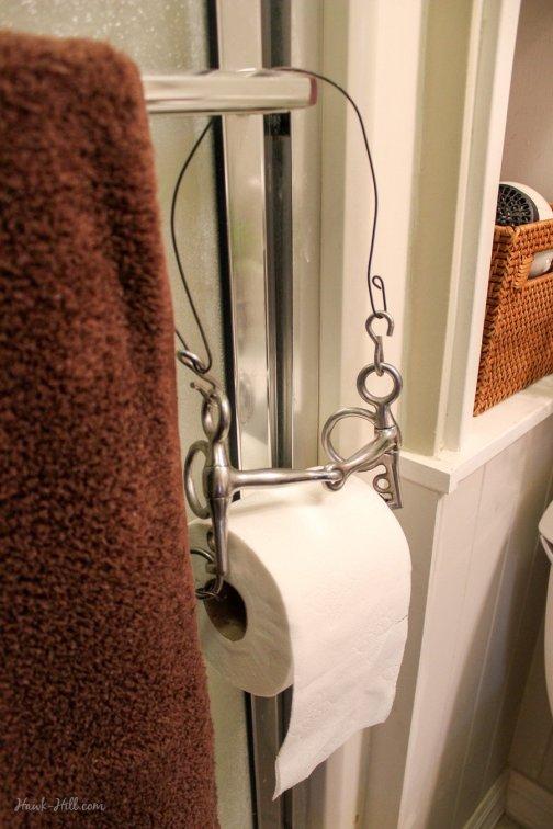 english horse bit toilet paper holder