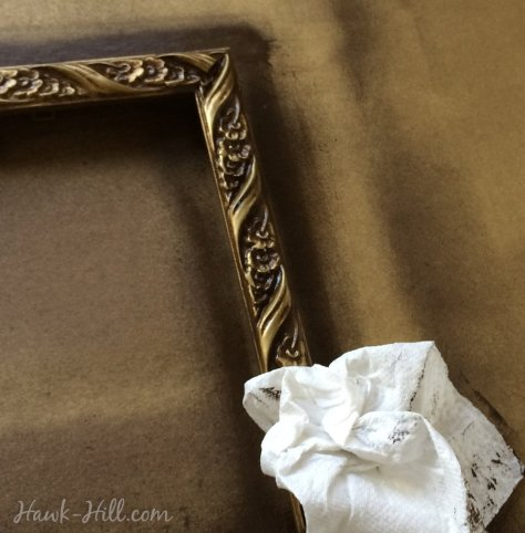DIY antiqued gold frames 59
