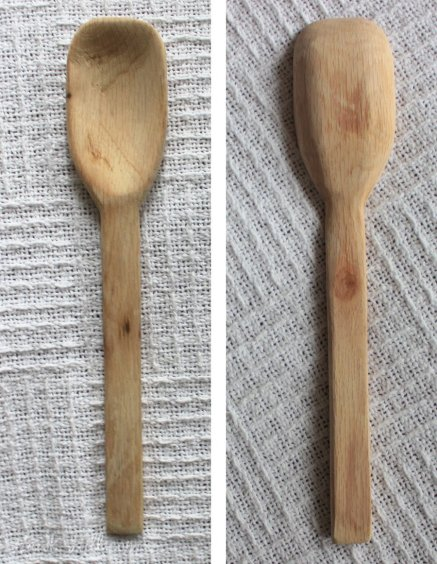my handcarved spoon made from the oak tree that fell on my property