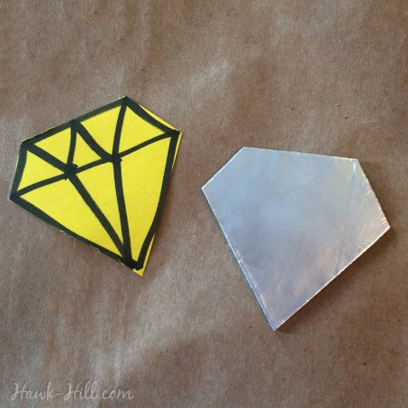 how to make custom shaped metal accents with aluminum foil 13
