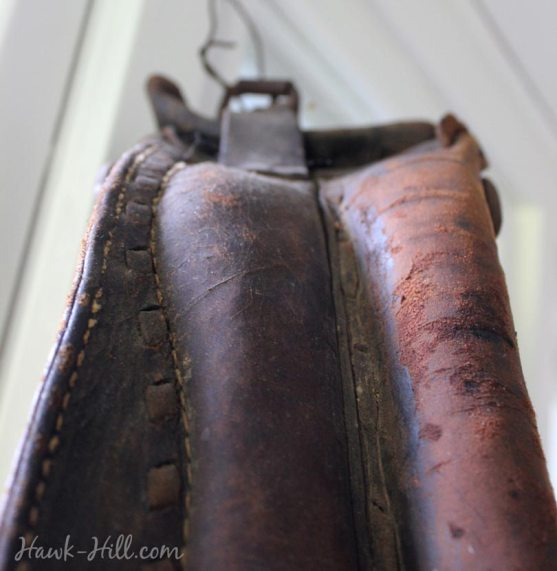 horse harness wreath how to - first care for the antique leather
