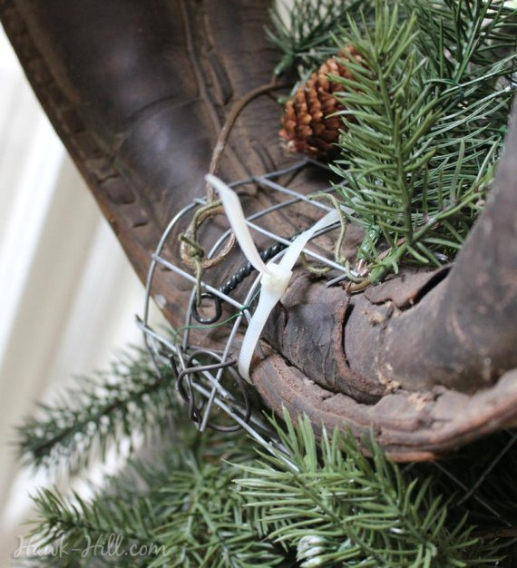 horse harness wreath howto 30