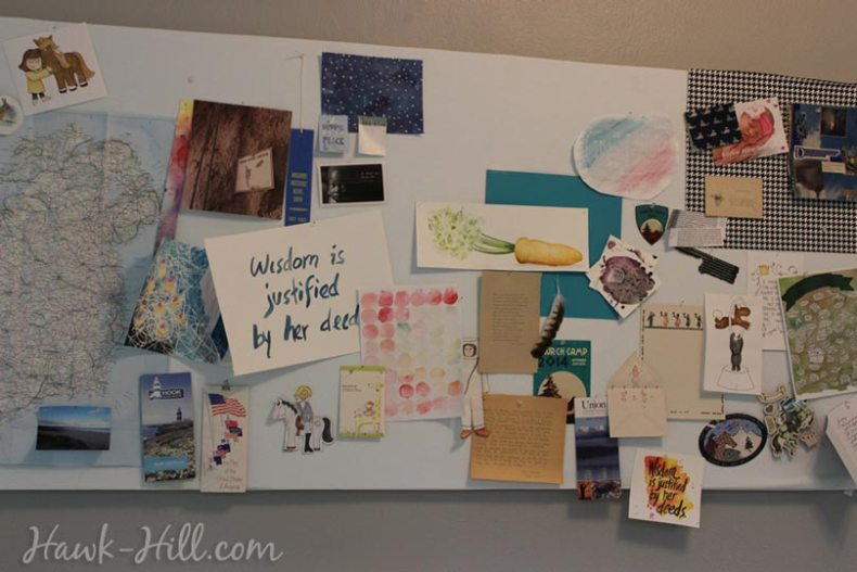 my real art studio idea pinboard 4