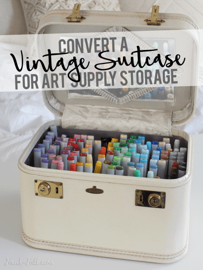 How to modify a vintage case for stylish storage of art supplies