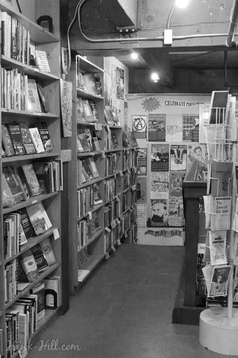 Left Bank Books- where you can pick up a novel, a coloring book, and some anarchist pamphlets!