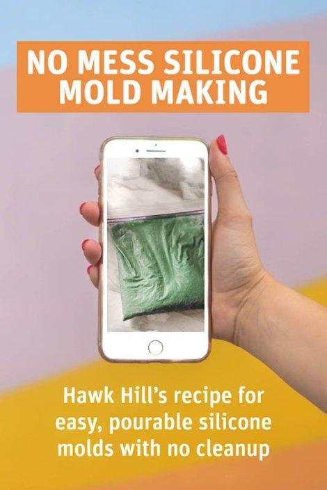 How to make custom silicone molds - no mess method