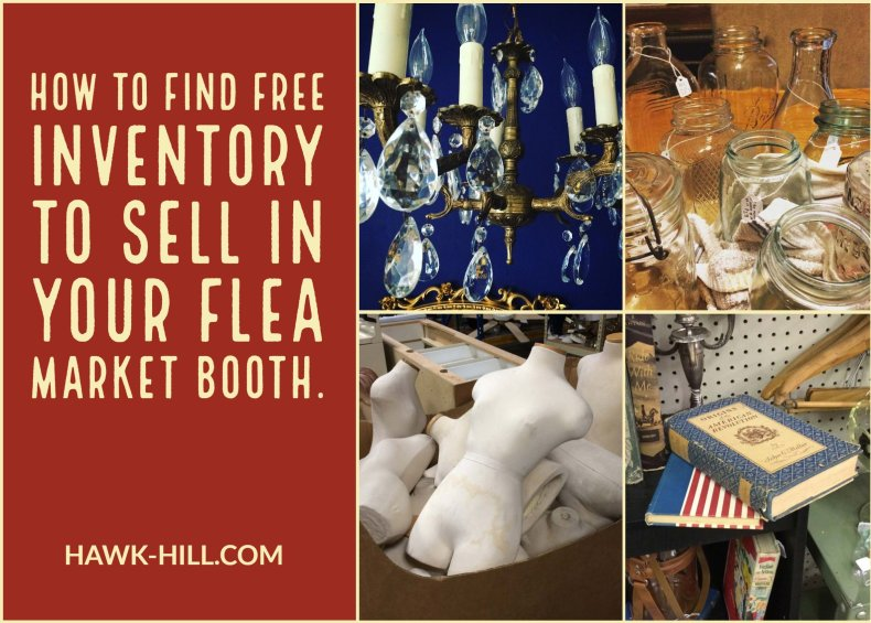 Tricks for finding free vintage collectibles to sell in your flea market or garage sale.