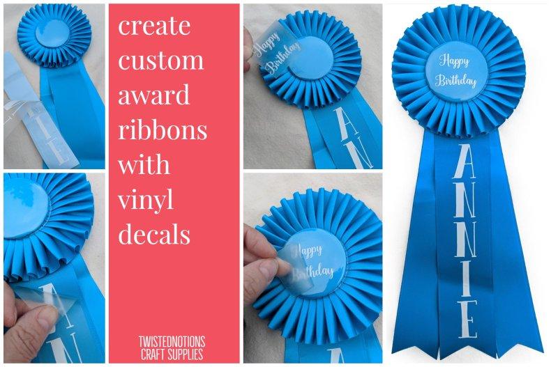 make personalize award ribbons