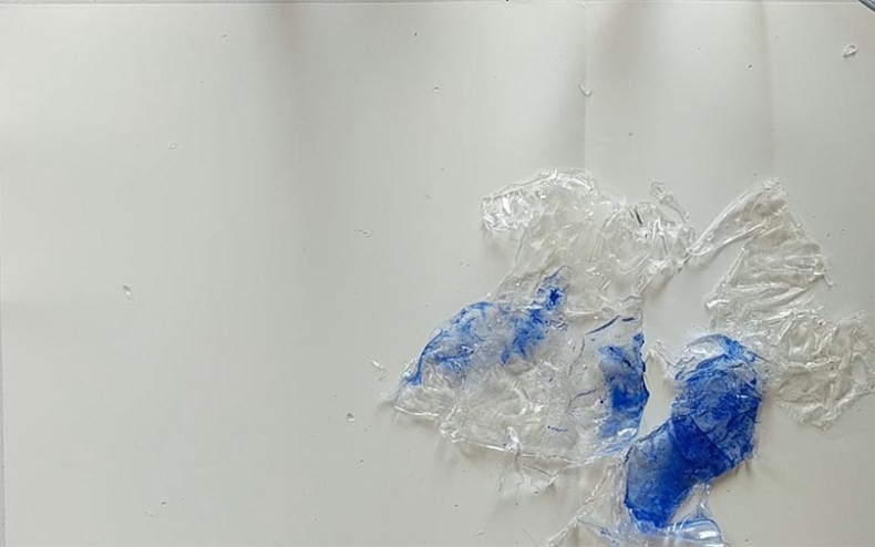 Creating a resin sculpture wish splashing water effect