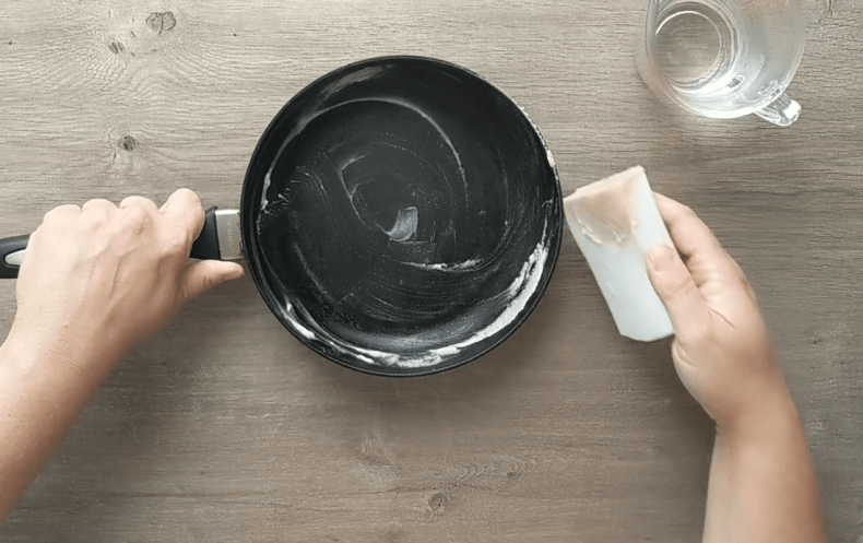 Restoring a nonstick finish on a crusty old nonstick pan