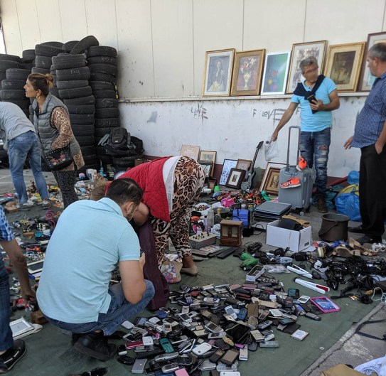 In my opinion, the best flea markets and flea markets the widest assortment of goods. At this Eastern European fleamarket you could buy used cell phones, tires, or corn on the cob, and priceless family heirlooms