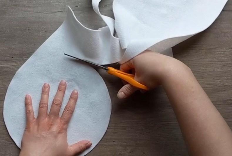 How to make a felt flour tortilla